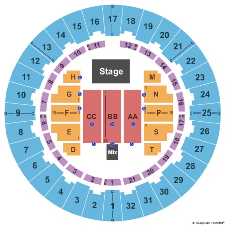 Neal S. Blaisdell Center - Arena Endstage No Rear Risers