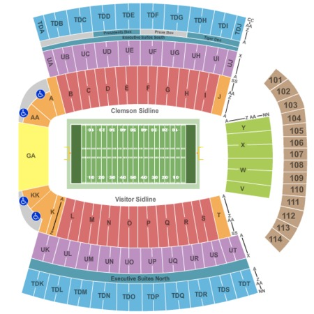 frank howard field at clemson memorial stadium tickets in clemson