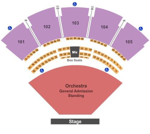 Dierks Bentley Lawn Seats: Verizon Wireless Amphitheatre At Encore Park Tickets In