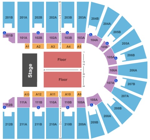Columbus civic center tickets in columbus georgia seating charts