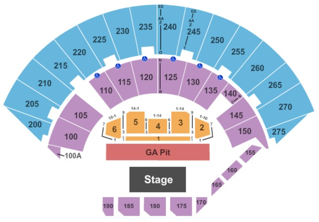 Mayo Civic Center Arena Concert GA Pit