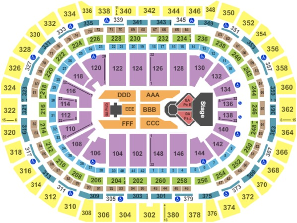 Pepsi Center Center Stage GA Floor