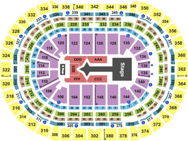 Pepsi Center Tickets In Denver Colorado Pepsi Center Seating Charts Events And Schedule