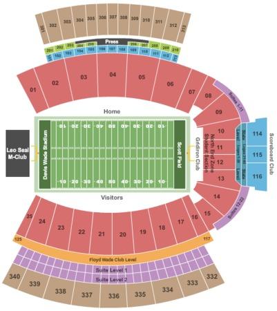 Davis Wade Stadium At Scott Field Tickets In Mississippi