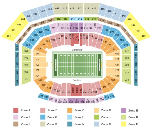 Levi's Stadium Super Bowl 2016 - Patriots/Cardinals