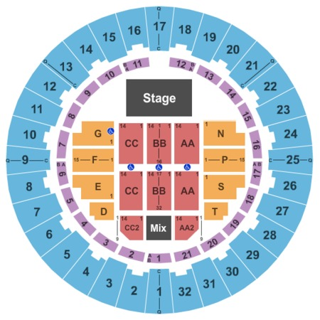 Neal S. Blaisdell Center - Arena Endstage No Rear Risers 2