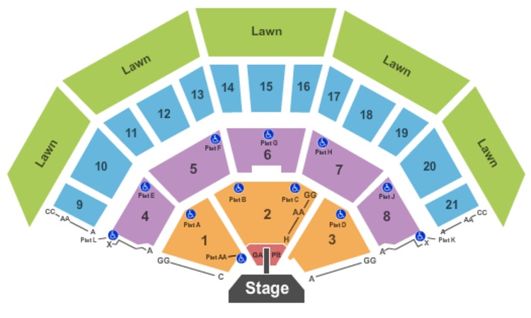 American Family Insurance Amphitheater Endstage GA Pit w/ Catwalk
