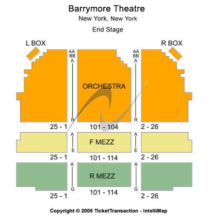 Barrymore Theatre End Stage