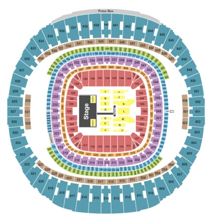Mercedes benz superdome tickets in new orleans louisiana for Mercedes benz dome new orleans seating chart