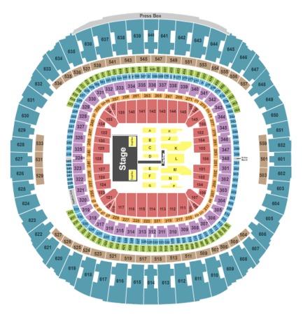 Mercedes benz superdome tickets in new orleans louisiana for Mercedes benz superdome seating chart