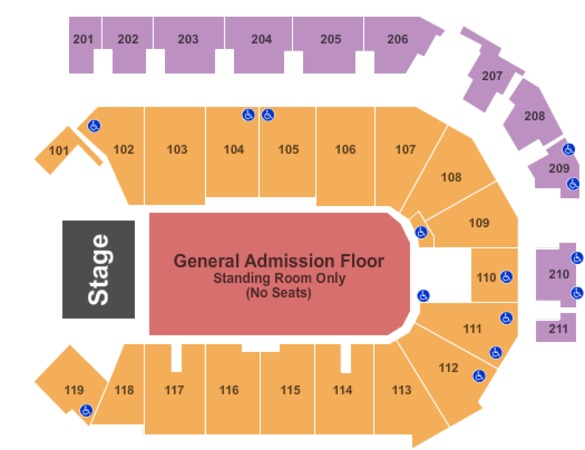 PPL Center Endstage GA Floor