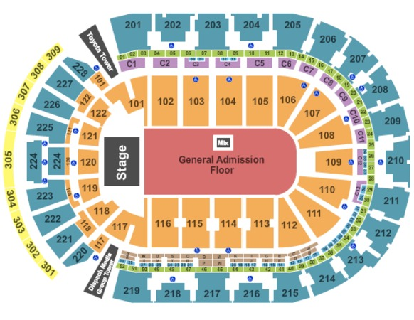 Nationwide Arena Endstage GA Floor 2