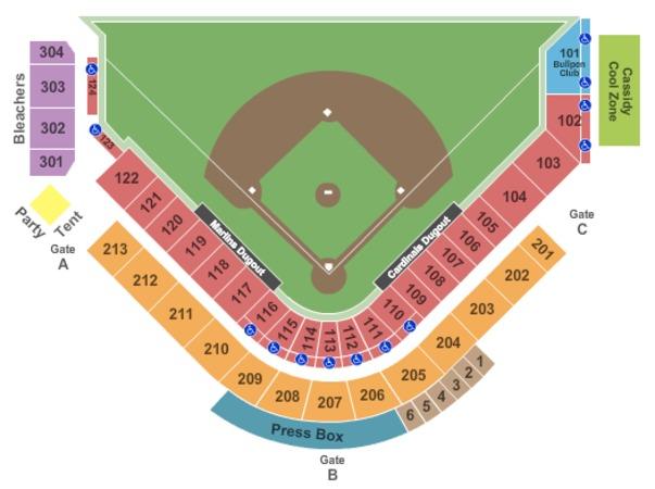 roger dean stadium seating chart: Roger dean stadium tickets in jupiter florida roger dean stadium