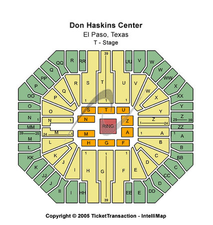 Don Haskins Center T-Stage