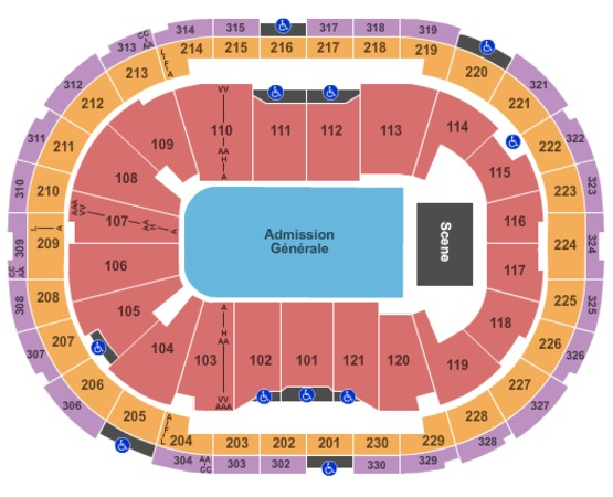 Centre Videotron End Stage GA Floor