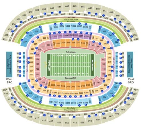 AT&T Stadium 2016 College Football - Arkansas vs. Texas A&M
