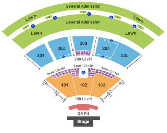Fiddlers green amphitheatre tickets in englewood colorado seating
