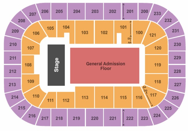 Bon Secours Wellness Arena Endstage GA Lower Bowl