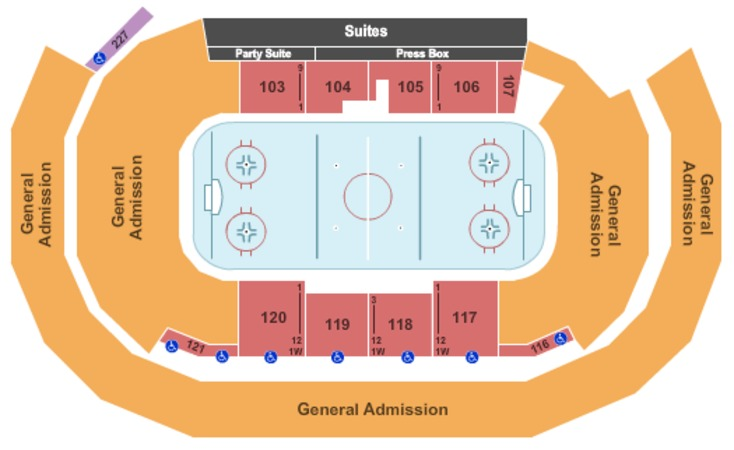 Amsoil Arena Seating Chart 4323 Vermont Route 108 South