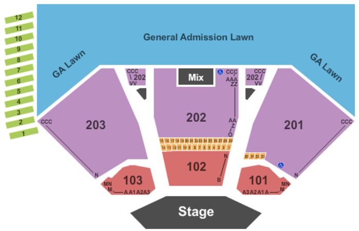 Alpine Valley Music Theatre Tickets in East Troy Wisconsin, Seating