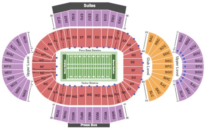 Beaver Stadium Tickets In University Park Pennsylvania