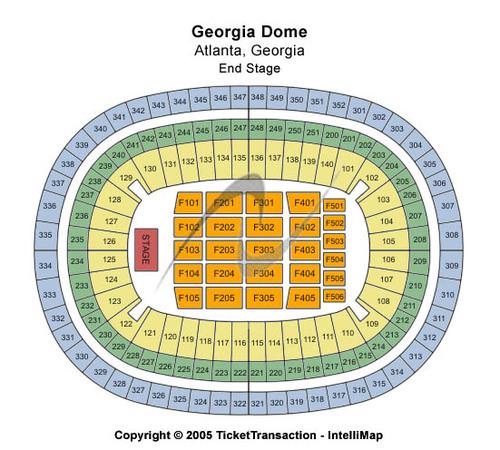 Georgia Dome End Stage