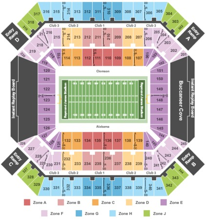 Raymond James Stadium College Championship Game Int Zone