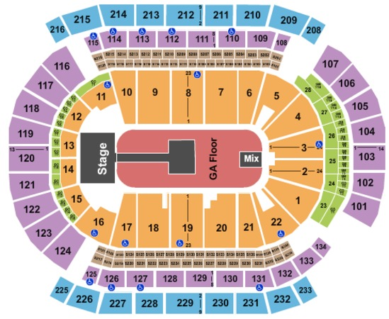 Prudential Center GA Floor2