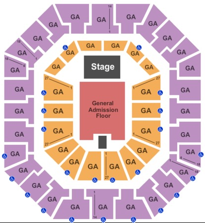 Colonial Life Arena 3 Level GA