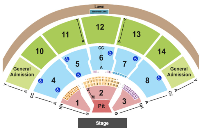 Xfinity Center Endstage Pit - Reserved & GA 2