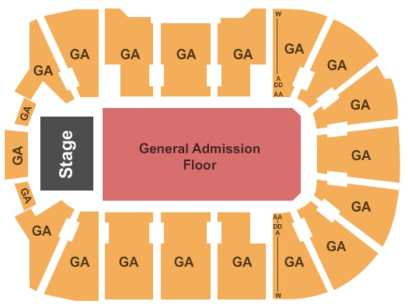 Webster Bank Arena At Harbor Yard GA Floor GA Seating