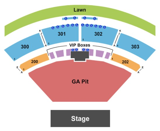 The Pavilion At Toyota Music Factory Endstage Ga Pit