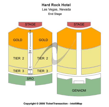 Theatre Under The Stars At Hard Rock Hotel & Casino End Stage