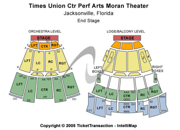 Times Union Ctr Perf Arts Moran Theater End Stage