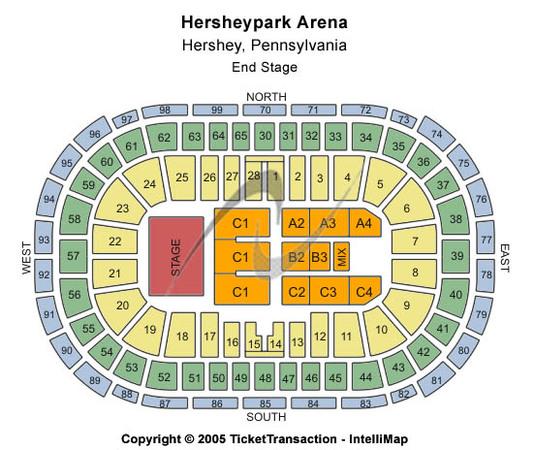 Hersheypark Arena Tickets In Hershey Pennsylvania Hersheypark Arena