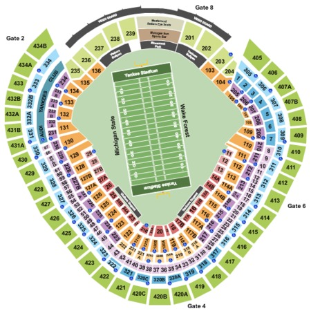 Yankee Stadium 2017 Pinstripe Bowl - Int Zone