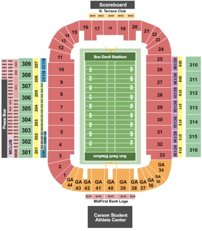 Sun devil stadium tickets in phoenix arizona sun devil stadium