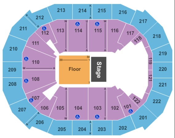 Chaifetz Arena Half House GA Floor