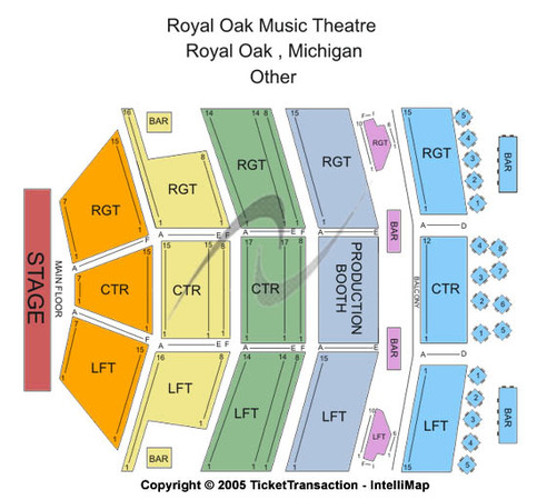 Royal oak music theatre tickets in royal oak michigan seating