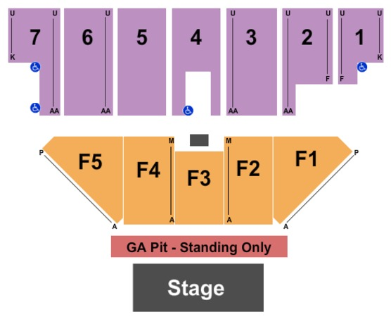 Five Flags Center - Arena Endstage GA Pit