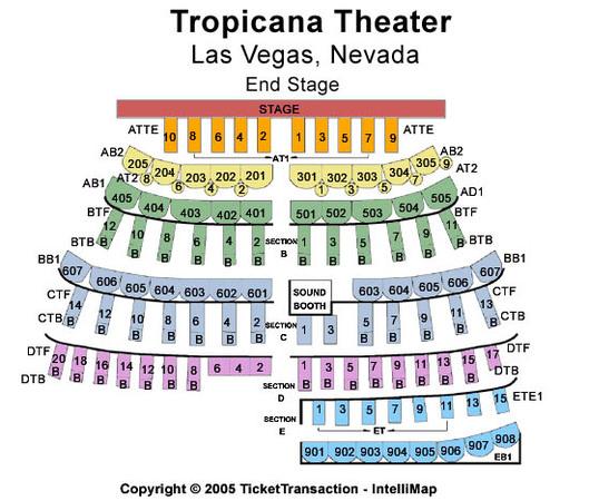 Tropicana showroom at tropicana hotel casino tickets in las vegas
