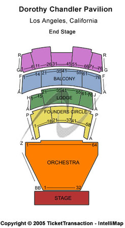 Dorothy chandler pavilion tickets in los angeles california seating