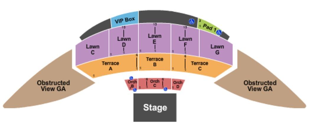 Mcgrath Amphitheatre Tickets In Cedar Rapids Iowa Seating Charts