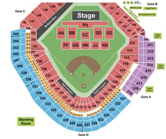 Comerica Park Detroit Michigan: Comerica Park Tickets In Detroit Michigan, Comerica Park
