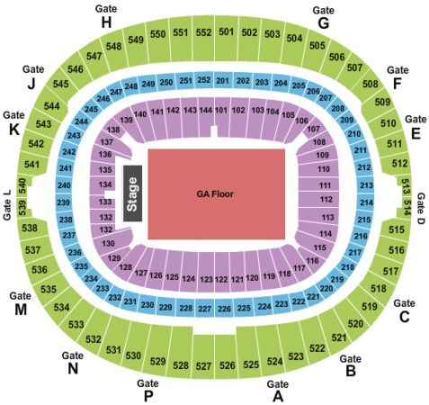 Wembley Stadium End Stage GA Floor