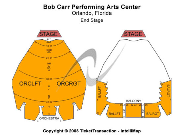 Bob Carr Performing Arts Centre End Stage