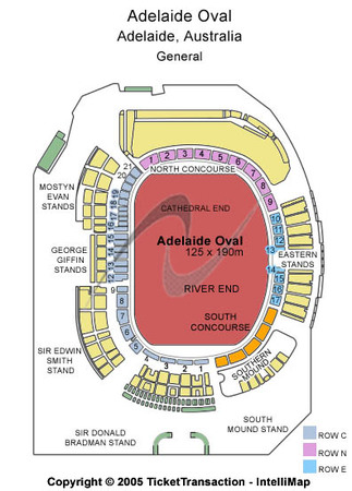 Adelaide Oval Tickets in North Adelaide SA, Adelaide Oval Seating ...