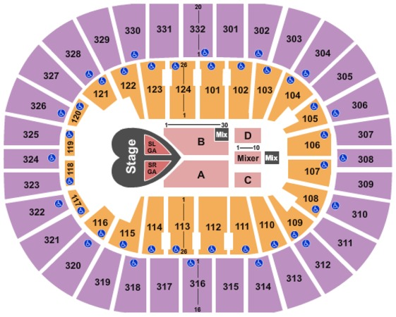 Smoothie King Center Pink