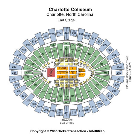 Charlotte Coliseum Seating Chart