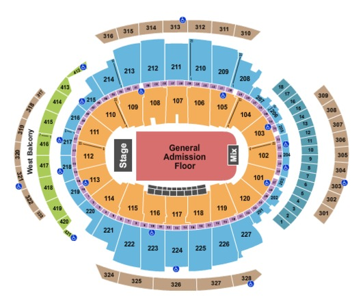 Madison Square Garden Endstage - Full GA Floor